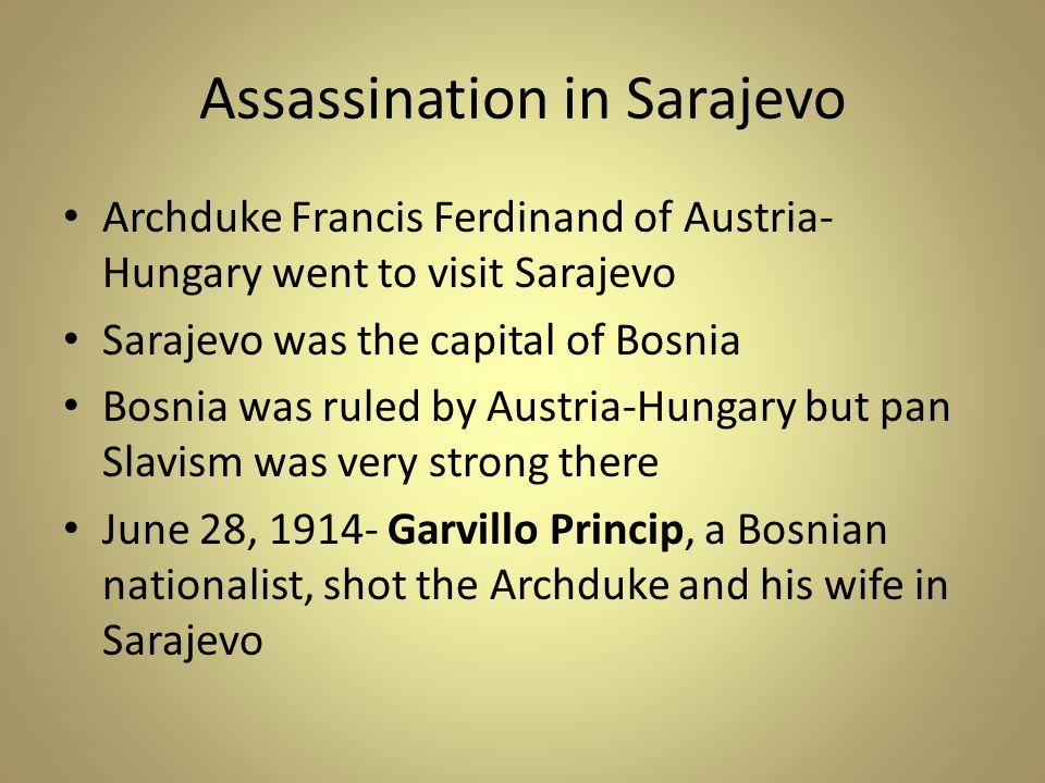 Assassination in Sarajevo
