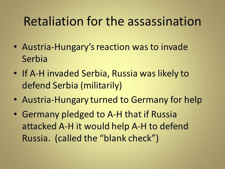 Retaliation for the assassination