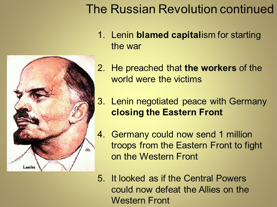 The Russian Revolution continued