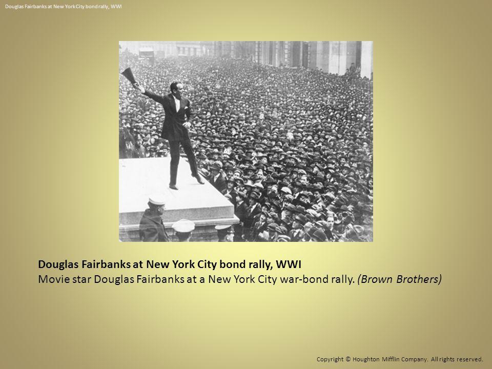 Douglas Fairbanks at New York City bond rally, WWI