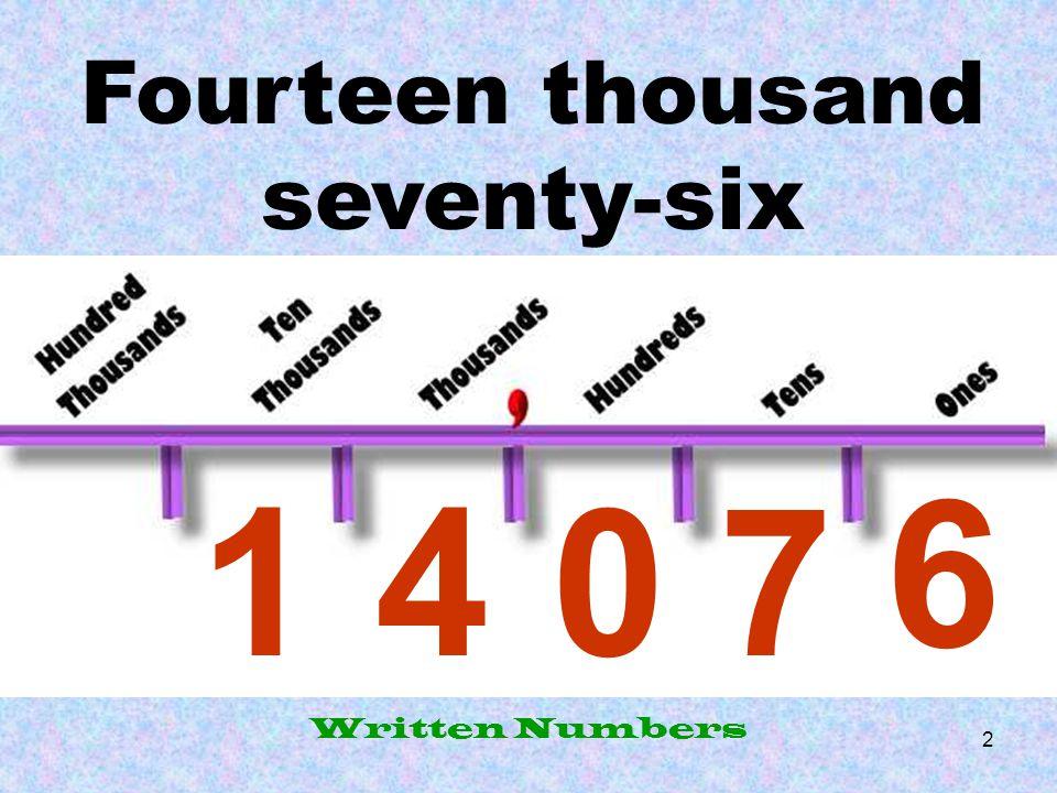Fourteen thousand seventy-six