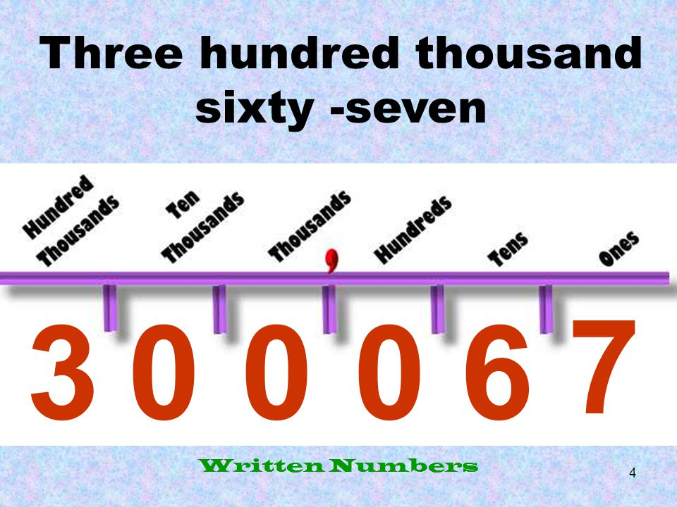 Three hundred thousand sixty -seven