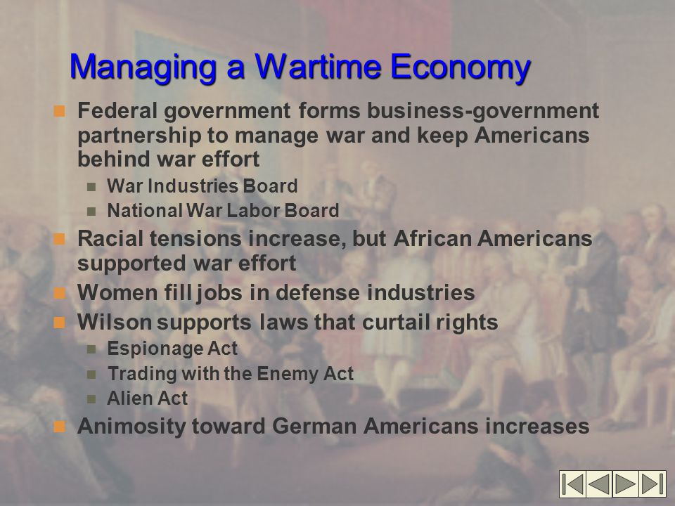 Managing a Wartime Economy