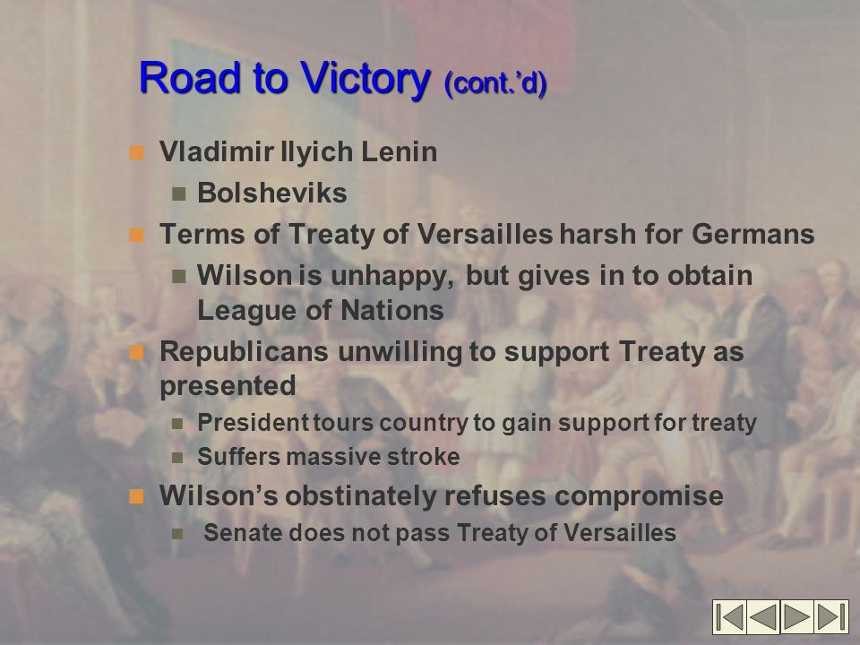 Road to Victory (cont.'d)
