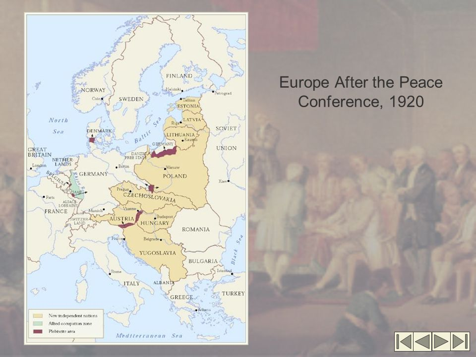 Europe After the Peace Conference, 1920