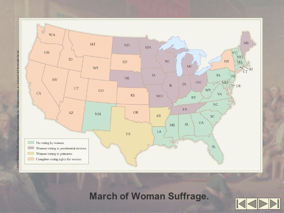 March of Woman Suffrage.
