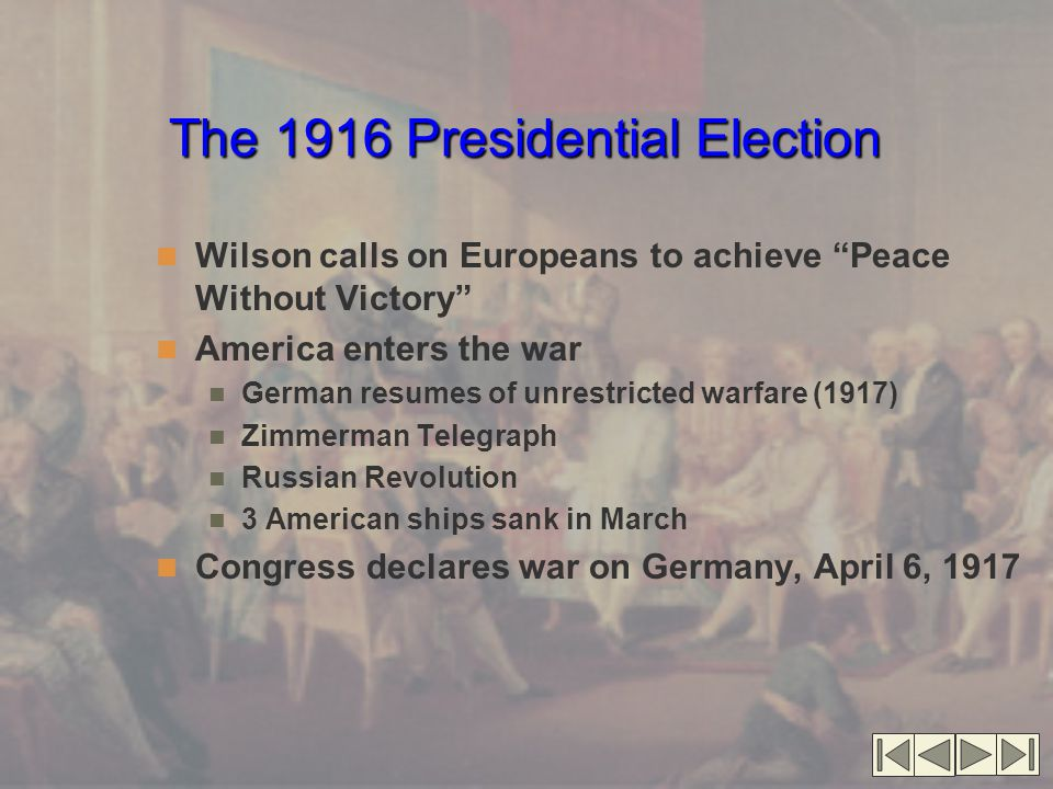 The 1916 Presidential Election