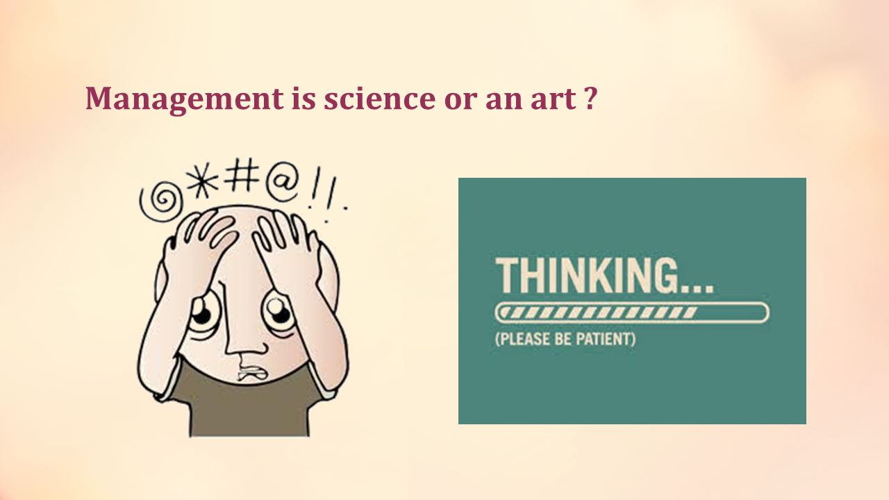 Management is science or an art