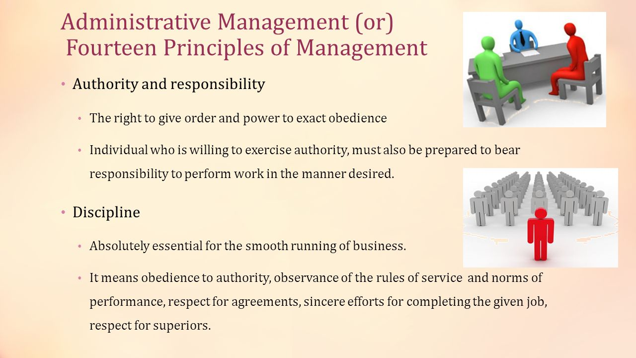 Administrative Management (or) Fourteen Principles of Management