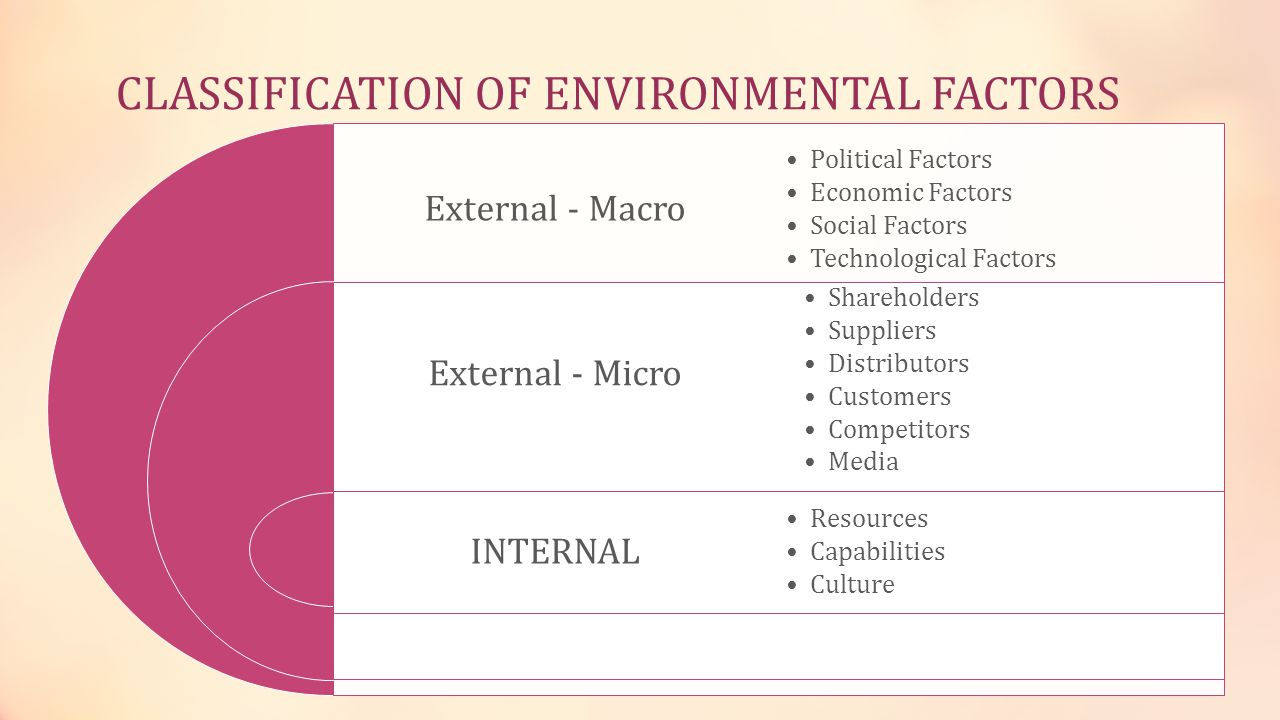 CLASSIFICATION OF ENVIRONMENTAL FACTORS