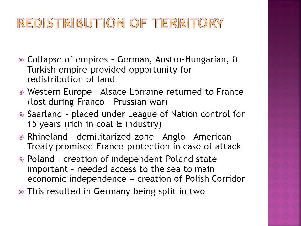 Redistribution of Territory