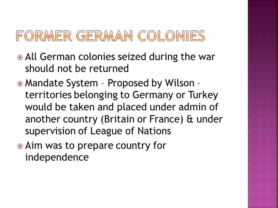 Former German colonies