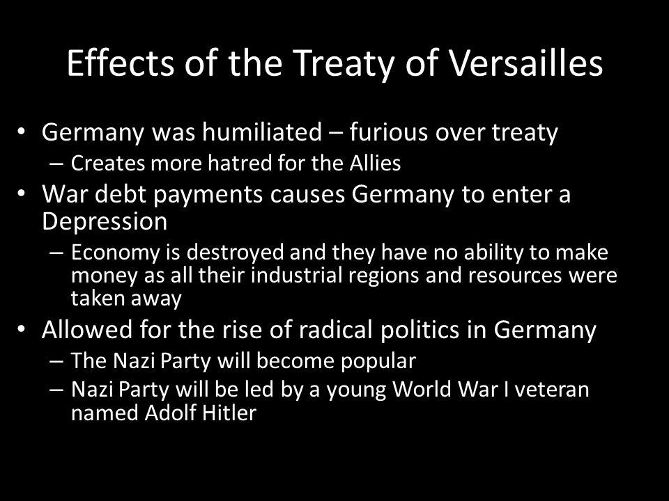Effects of the Treaty of Versailles