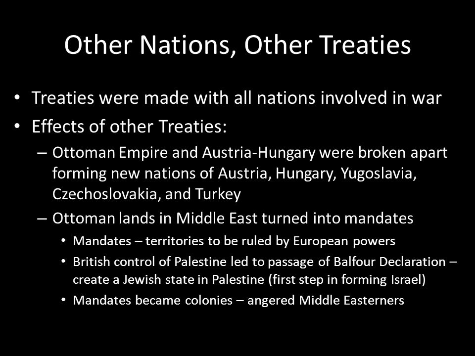 Other Nations, Other Treaties
