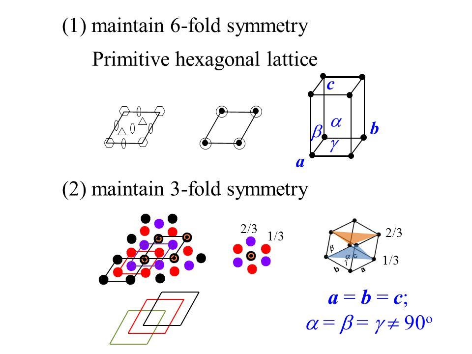 (1) maintain 6-fold symmetry