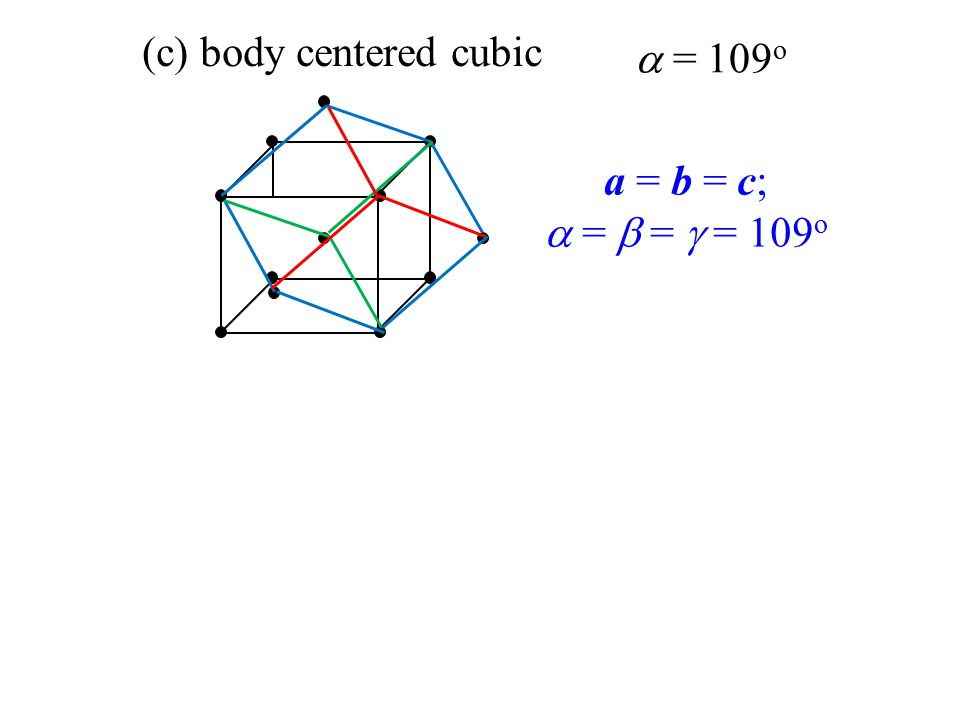 (c) body centered cubic