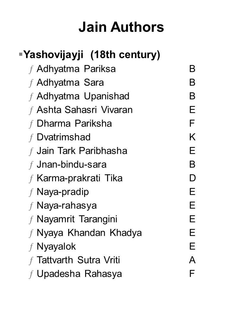 Jain Authors Yashovijayji (18th century) Adhyatma Pariksa B