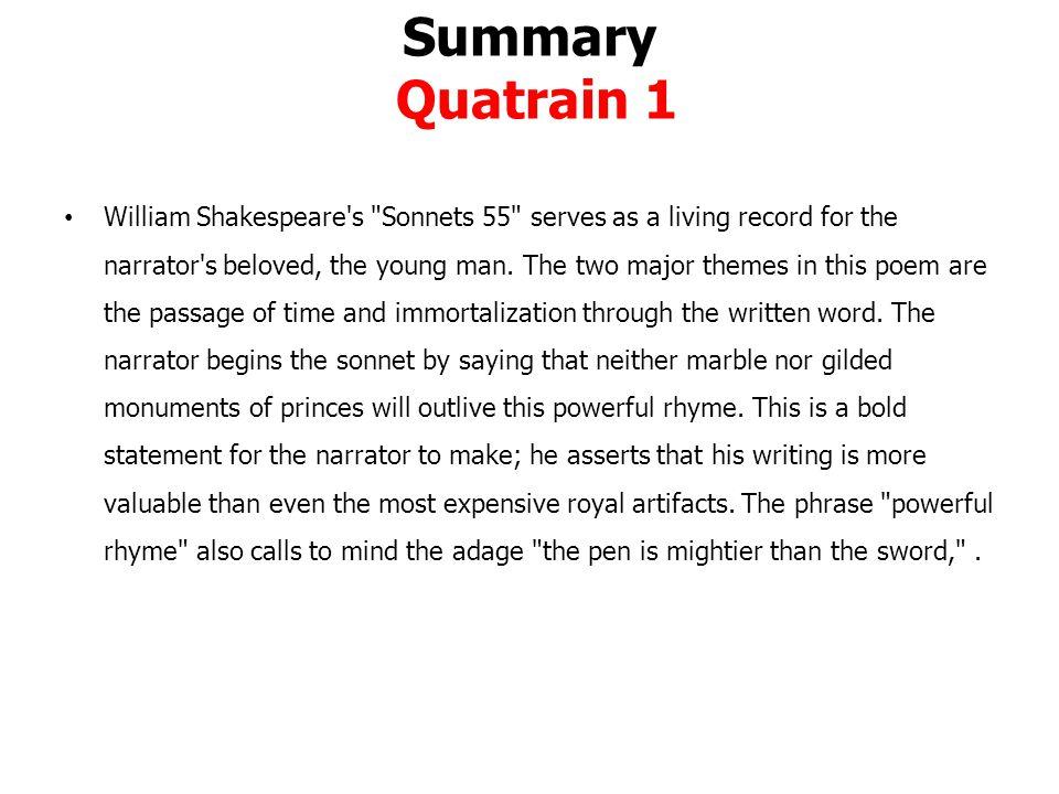 Summary Quatrain 1