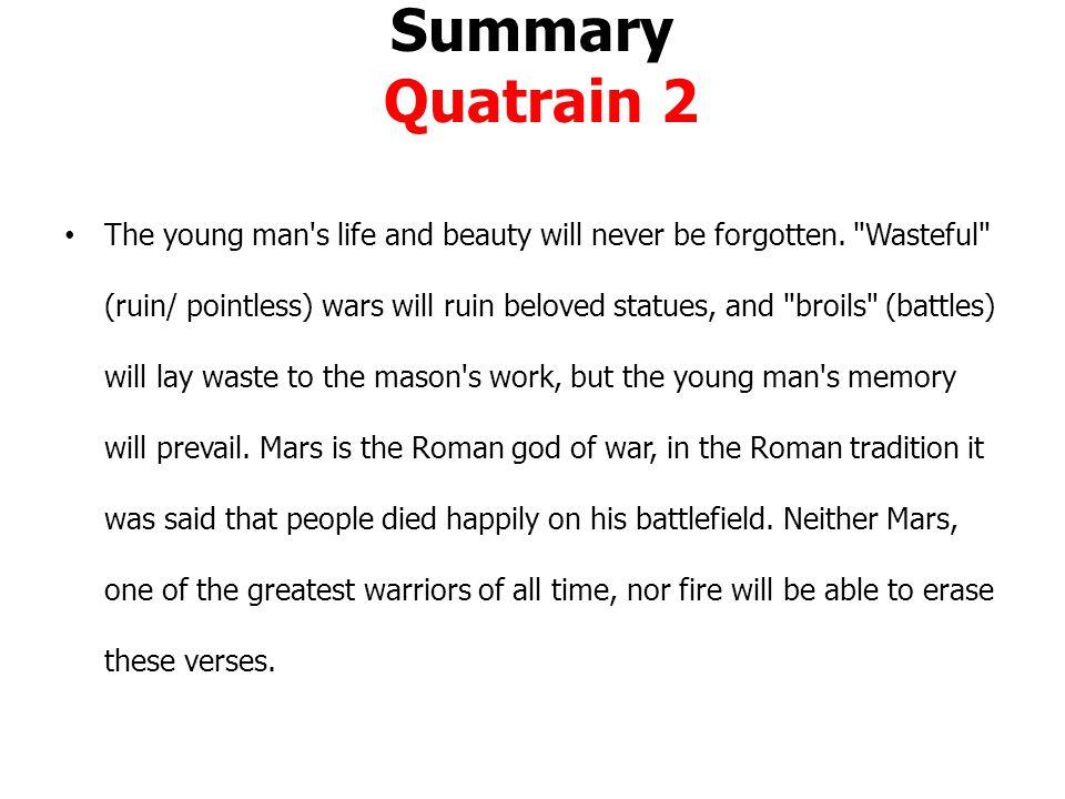 Summary Quatrain 2