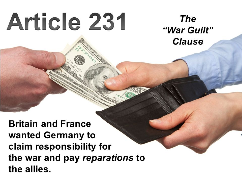 Article 231 The War Guilt Clause