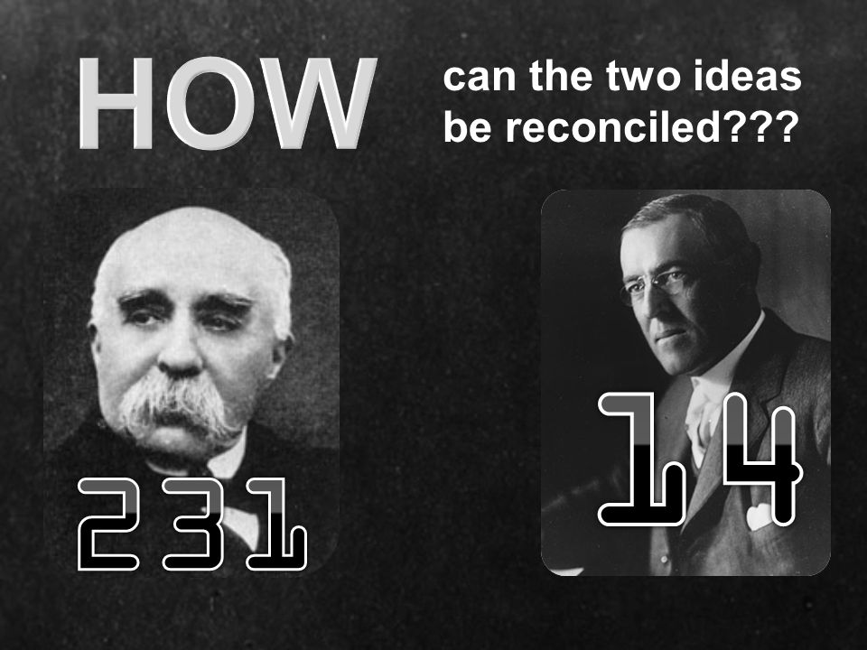 HOW can the two ideas be reconciled 14 231