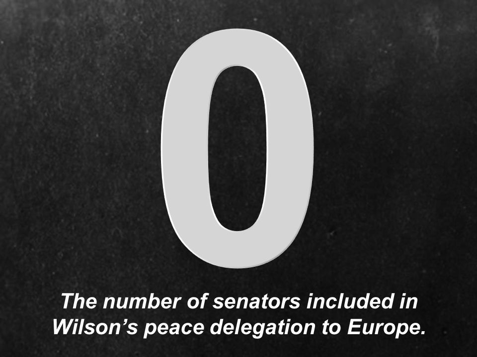The number of senators included in Wilson's peace delegation to Europe.