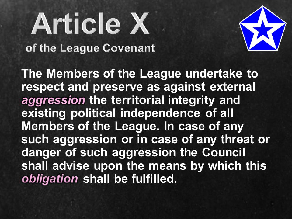 Article X of the League Covenant