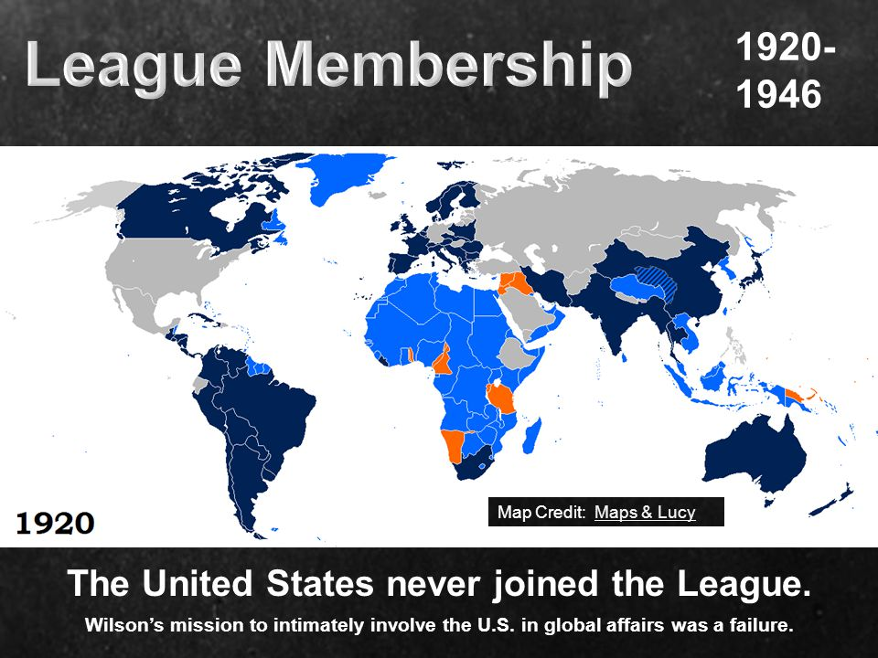 League Membership 1920- 1946. Map Credit: Maps & Lucy.