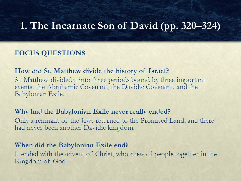 1. The Incarnate Son of David (pp. 320–324)