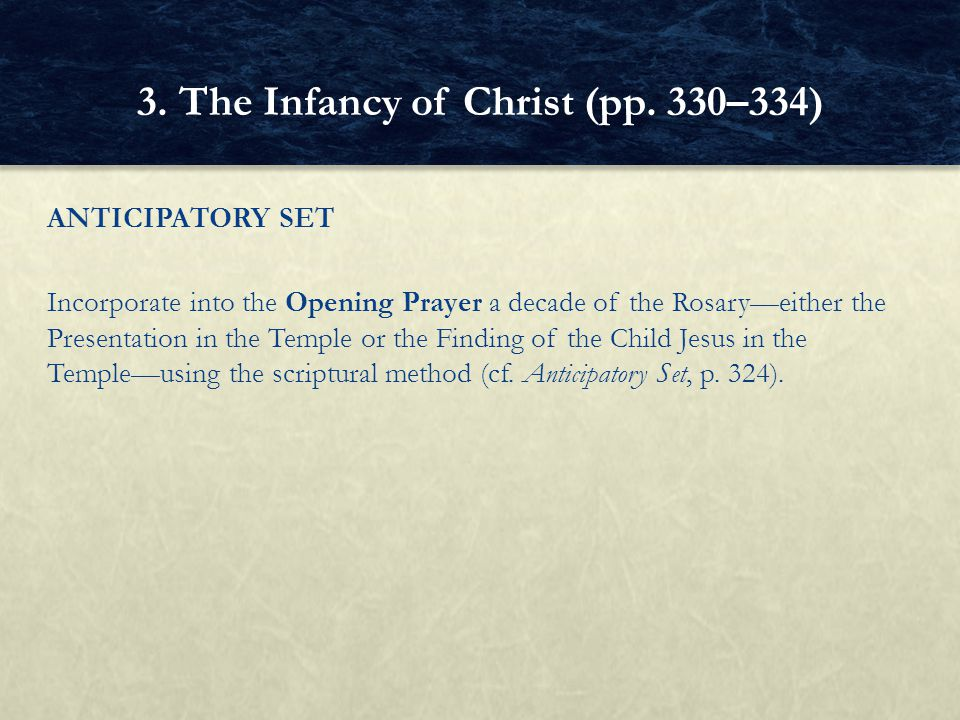 3. The Infancy of Christ (pp. 330–334)