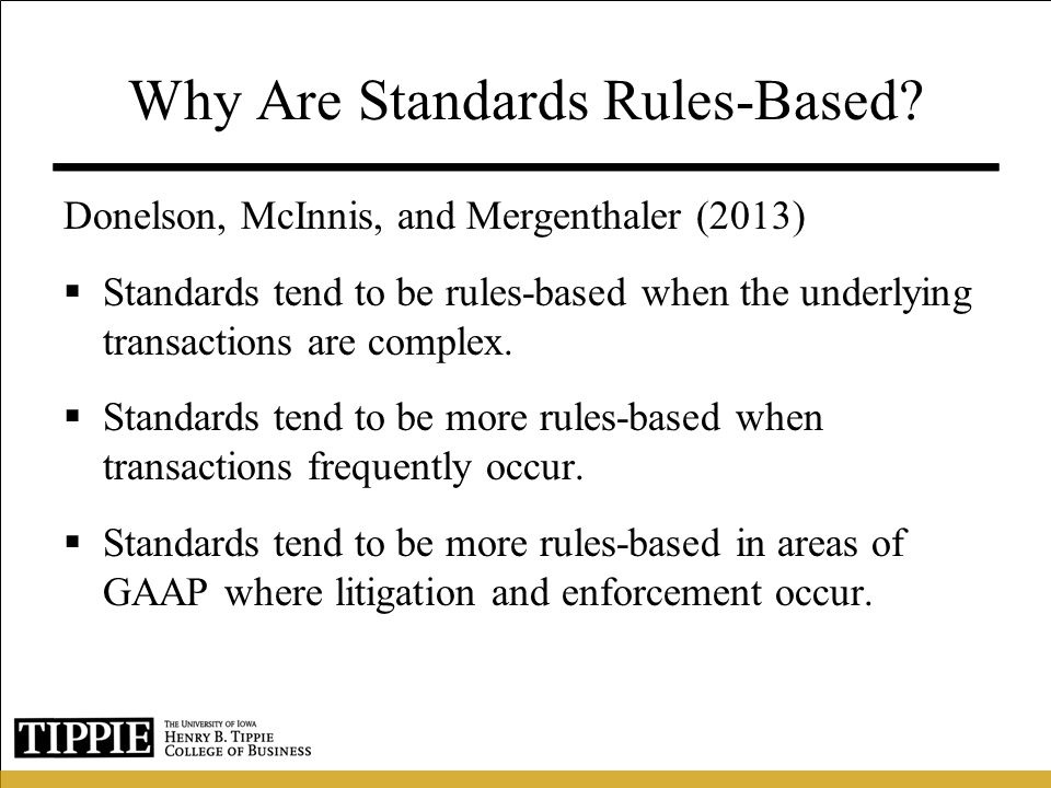 Why Are Standards Rules-Based