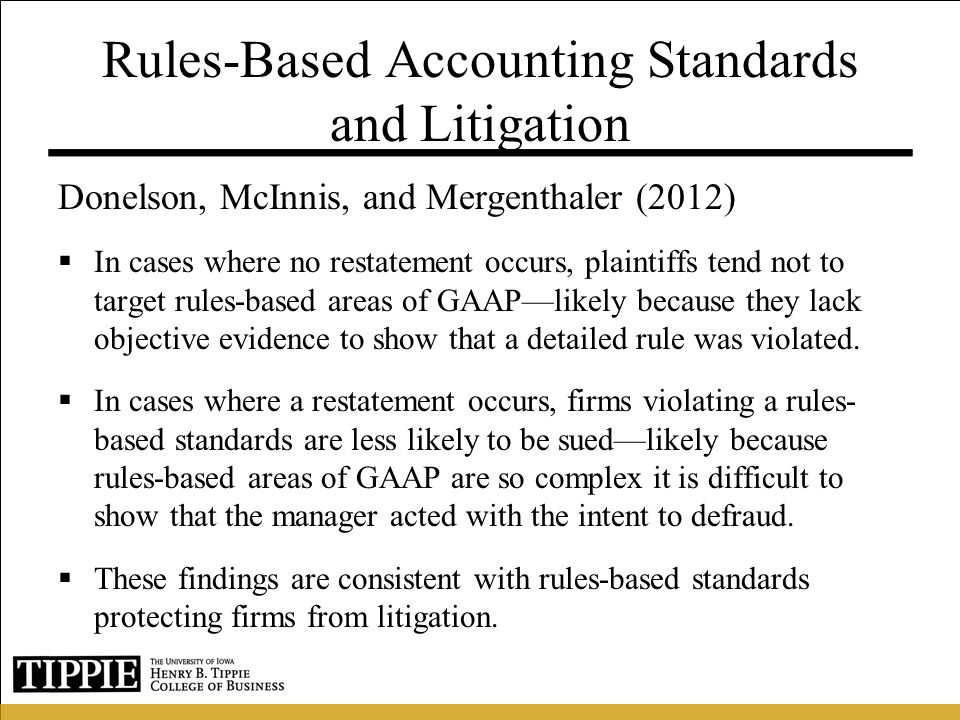 Rules-Based Accounting Standards and Litigation
