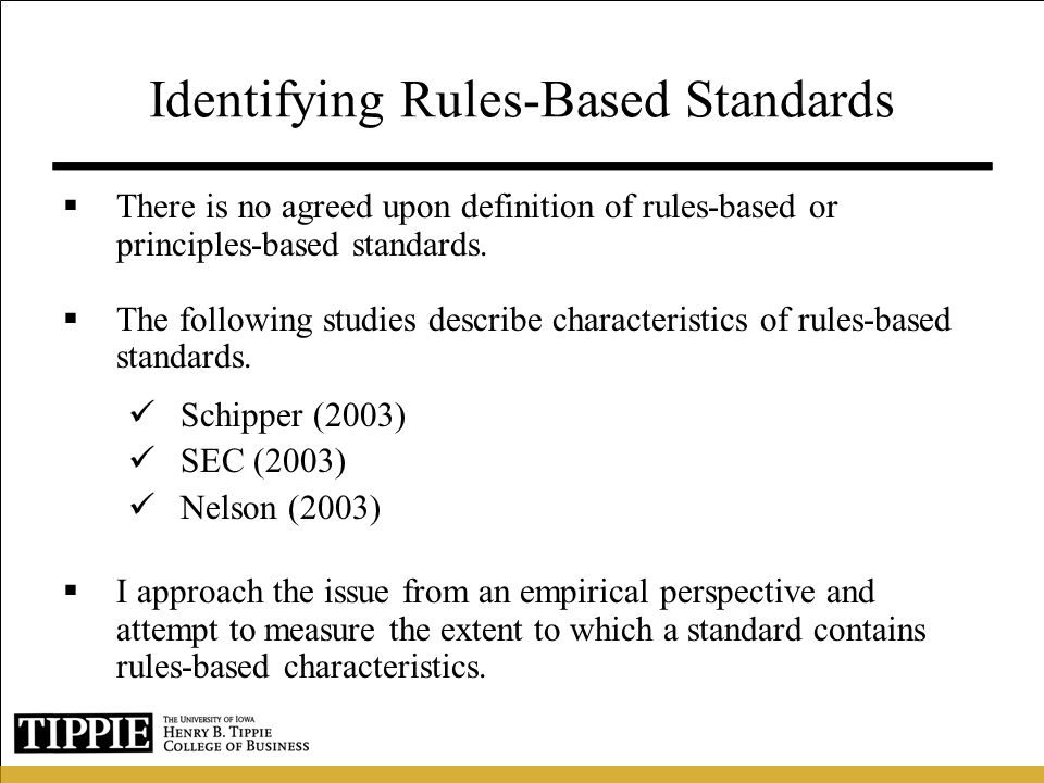 Identifying Rules-Based Standards