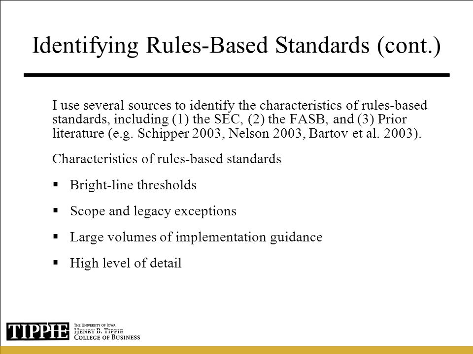 Identifying Rules-Based Standards (cont.)