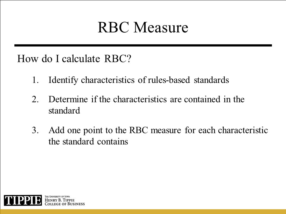RBC Measure How do I calculate RBC