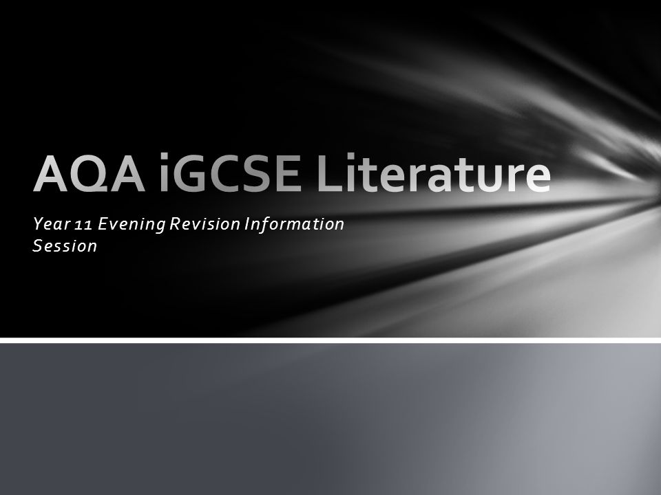 Year 11 Evening Revision Information Session