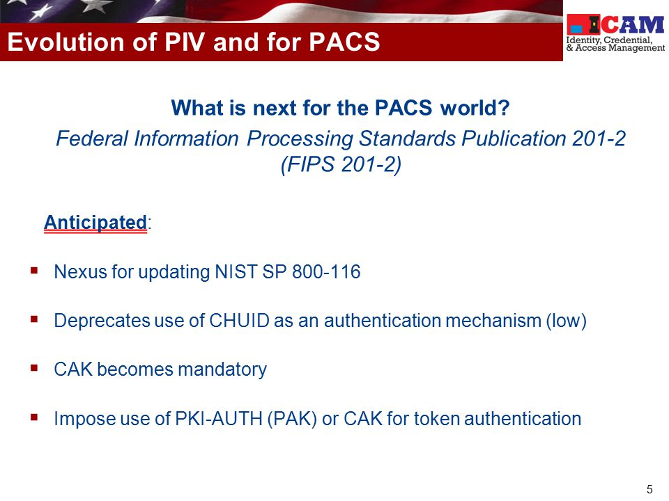 Evolution of PIV and for PACS
