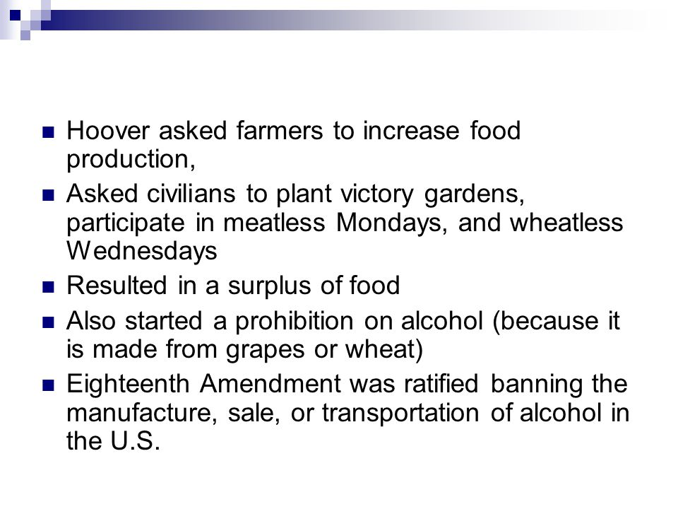Hoover asked farmers to increase food production,