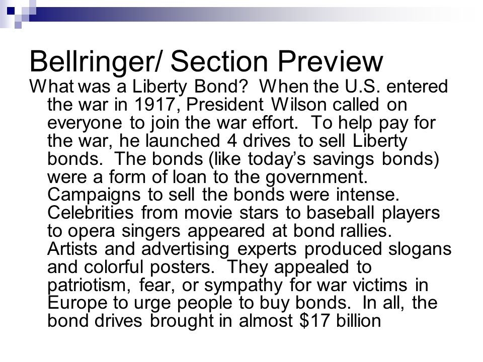Bellringer/ Section Preview