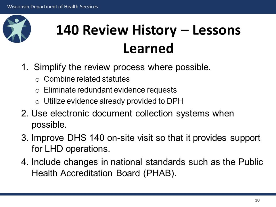 140 Review History – Lessons Learned