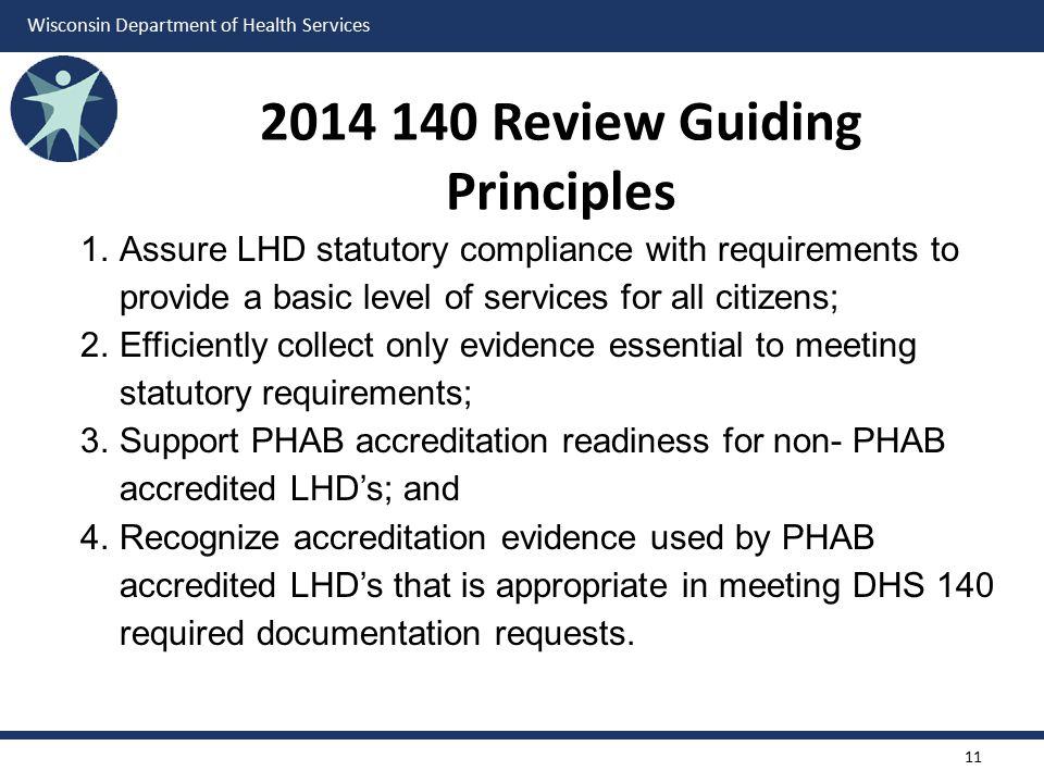 2014 140 Review Guiding Principles