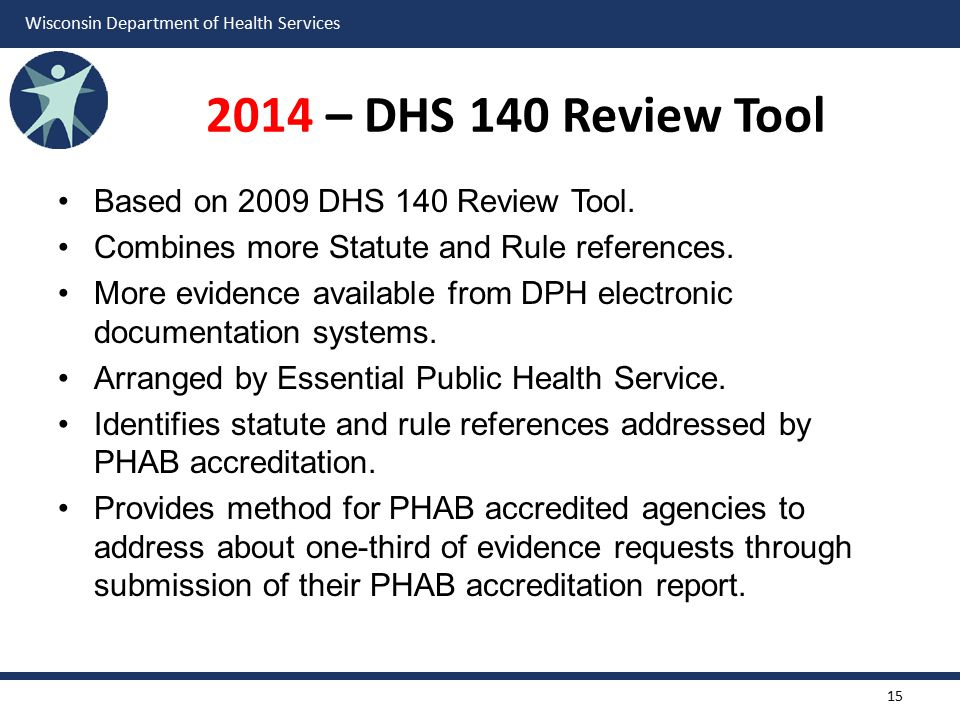 2014 – DHS 140 Review Tool Based on 2009 DHS 140 Review Tool.