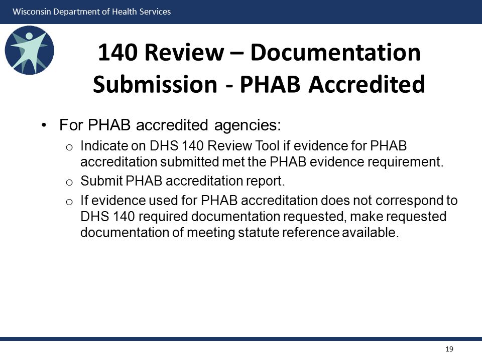 140 Review – Documentation Submission - PHAB Accredited
