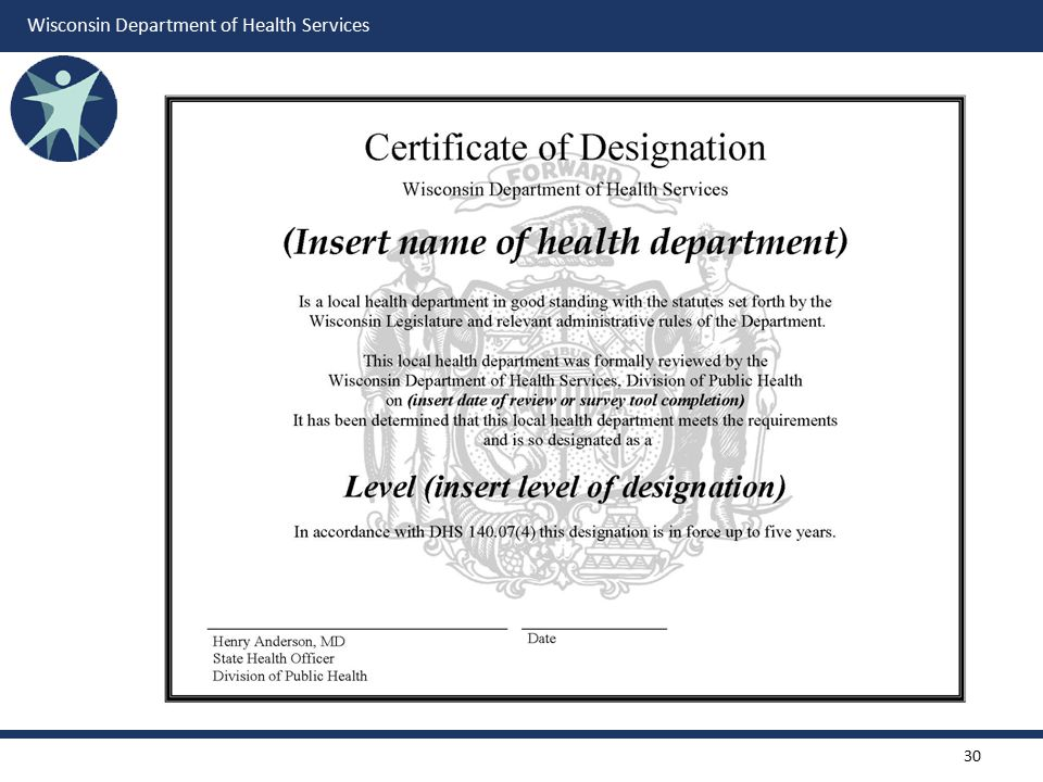 Example of 2009 Certificate of Designation that will be updated for 2014