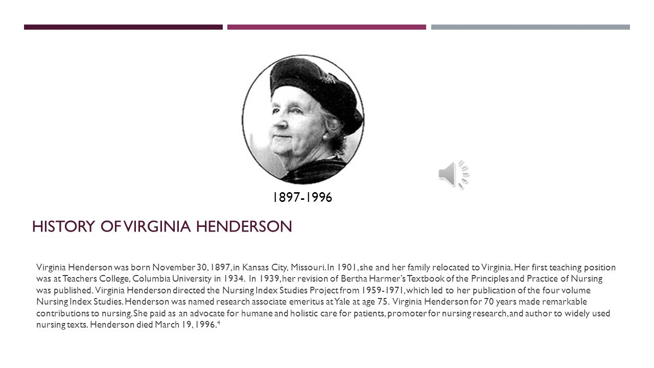 History of Virginia henderson