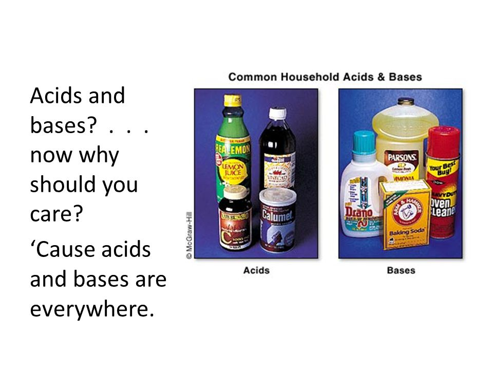 Acids and bases . . . now why should you care