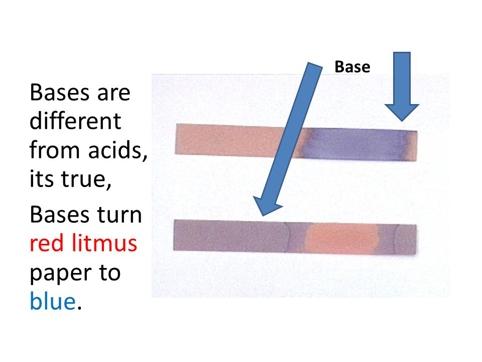 Bases are different from acids, its true,
