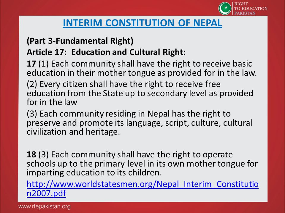 INTERIM CONSTITUTION OF NEPAL