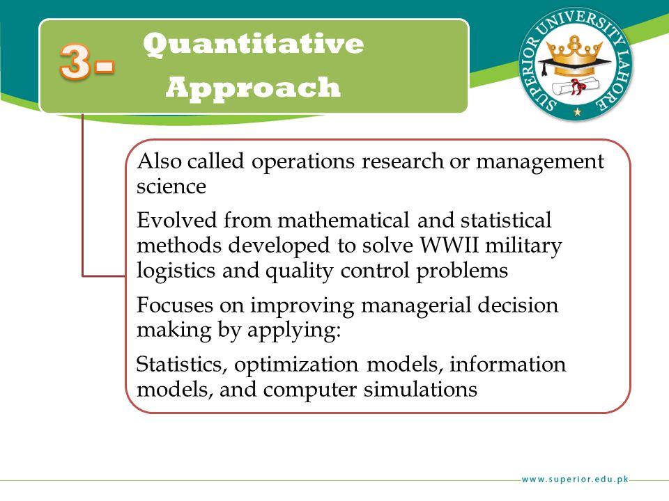3- Quantitative Approach