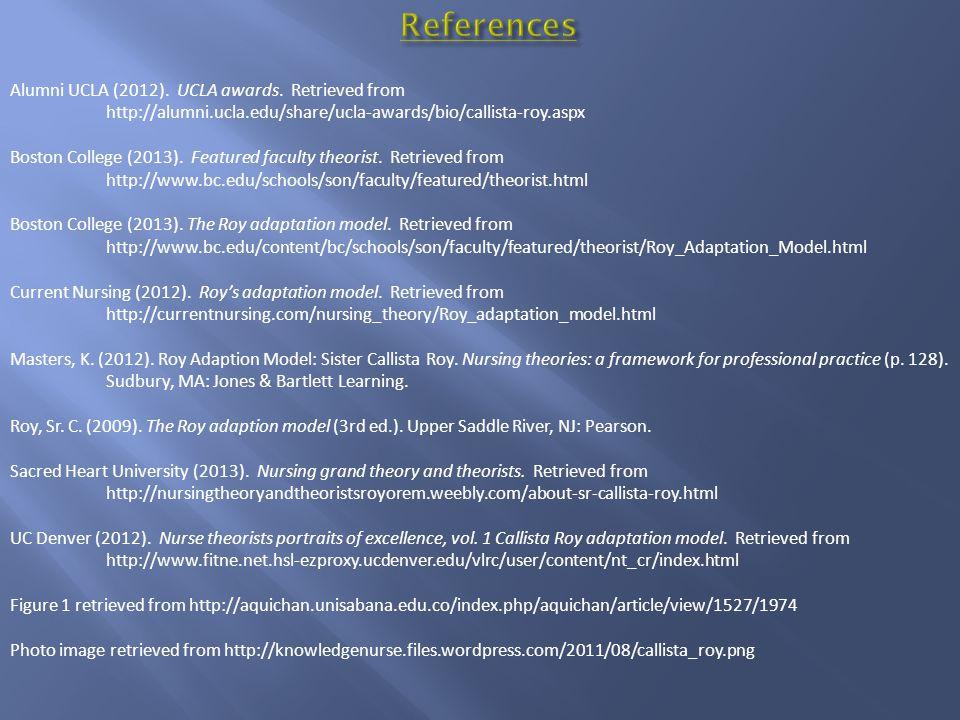 References Alumni UCLA (2012). UCLA awards. Retrieved from